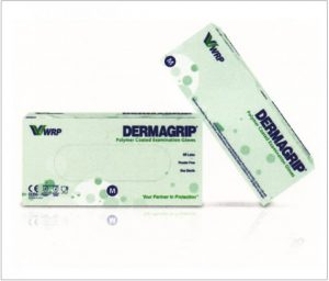 DERMAGRIP Polymer Coated Latex Examination Gloves