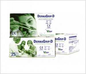 DERMAGRIP-D Powder Free Latex Gloves for Dental and Diagnostic Procedure