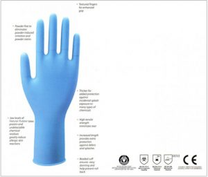 DERMAGRIP Powder Free Latex High Risk Examination Gloves
